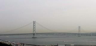 淡路SAから明石海峡大橋