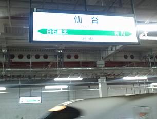 仙台駅に到着。東北の中心の駅なので人がかなり多かったです。