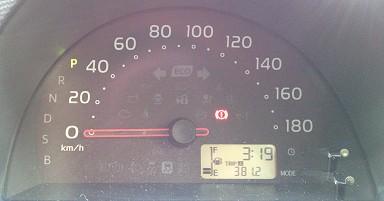 381.2kmの長旅を共にしたパッソさんとお別れの時。ちなみに満タン返し不要だったのでお得でした。