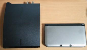 nasneは思ったより小さく、3DSLLと比較してみましたが、2台分程度です。