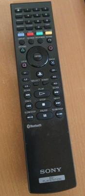 「BDリモートコントローラー」。コレは旧モデルで、現行モデルはさらにテレビのリモコンに近いデザインになっていますし、赤外線も搭載されていて普通のテレビも操作出来ます。