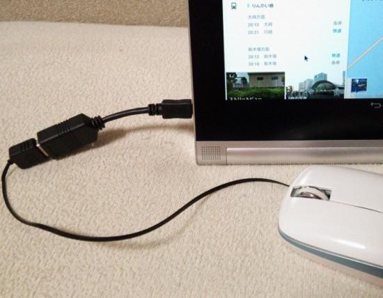 マウスを接続したら認識しました。やや見づらいですがマウスカーソルも表示され、実際にマウスで操作が出来ます。