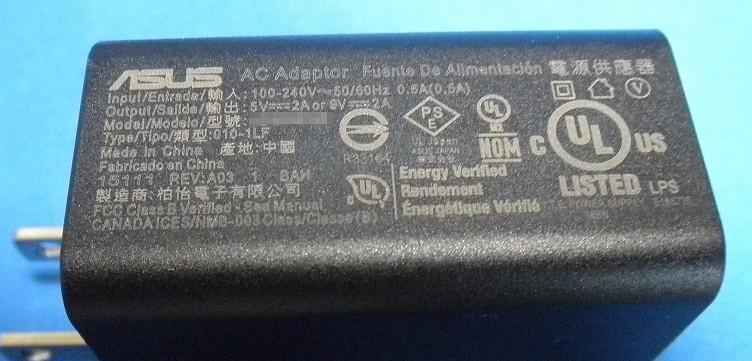 USBアダプタに「Output:5V2A or 9V2A」と書かれているので、対応機種を繋げた場合9Vで充電されると思います。