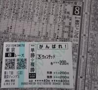 6番人気で3着に食い込んだ「ウォンテッド」号。990円×2=1980円。