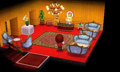 ホテルのロビーです。シンプルにしつつ高級感を出すようにしました。