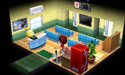 受付兼待合室。入院患者も居るため自販機を中に入れました。少々窮屈な感じも待合室の雰囲気が出せたかなあと。