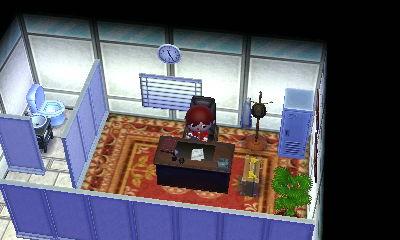 パーティションで囲んだ社長室。あと応接室も似た雰囲気で作りたかったなあと。