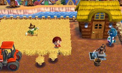 小麦畑を作りました。トラクターと手こぎポンプが良い味を出していて、なんかアメリカンな感じです。