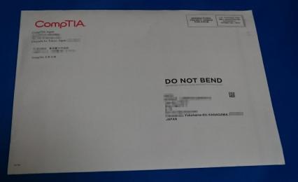 約一ヶ月後、本部のシカゴから認定証などが郵便で届きました。ラベルは東京にある日本法人ですが…。