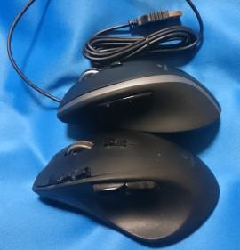 G700(下)とm500t(上)。G700は8個もショートカットキーがありますが、m500tは2個です。