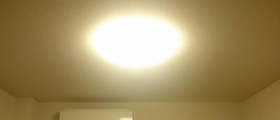 初点灯。かなり明るいです。