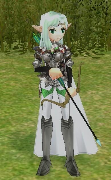 「アヴェリンの鎧」です。軽装備で女性キャラ限定。種族は何でもOKで汎用性が高いです。