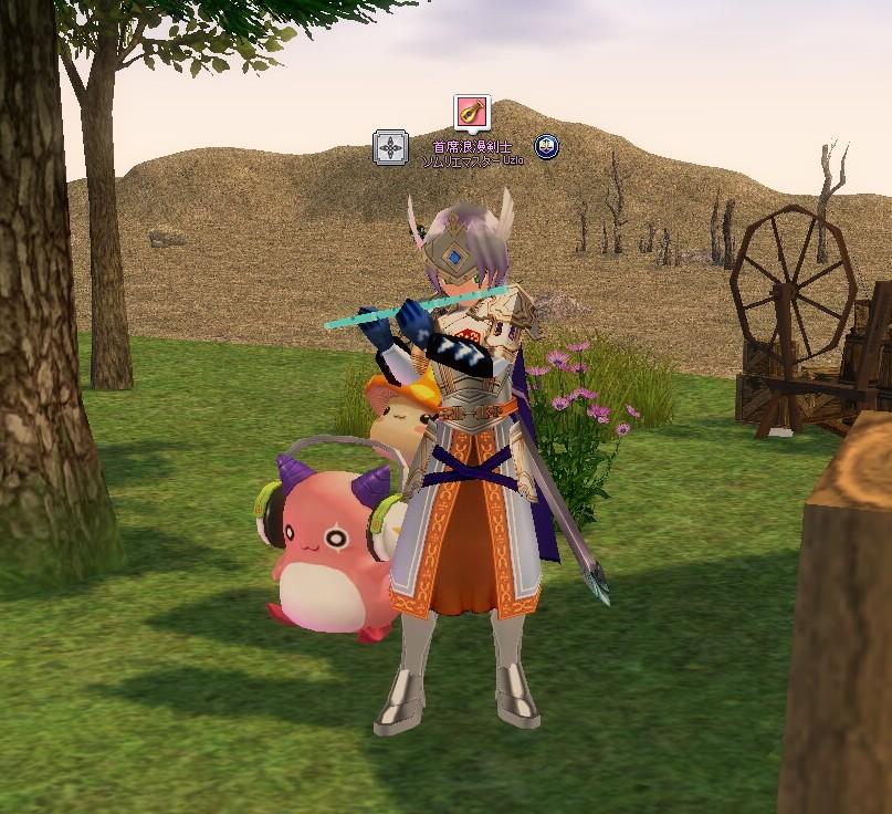 今は農場の仲間がギャラリーです。 ピンクビーンはめいぽをプレイしていた当時は居なかったキャラクタですが、へたくそな演奏にも喜んでくれて愛着が沸きました。