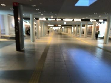 早朝(6時)の移動。大通から札駅まで広くてキレイな地下道が出来てました。