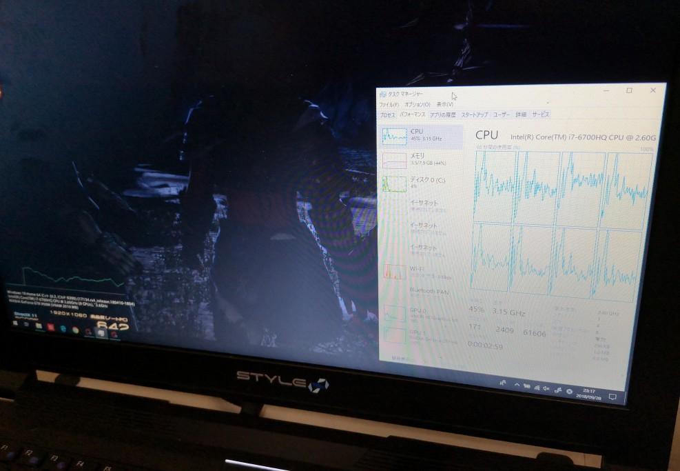 FFベンチだとCPUよりGPUの負荷が高く、熱も半端ない状態になるのではと不安でしたが、ビープ音すら鳴らずに1時間耐えられました。