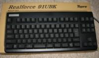 Realforce 91UBK。テンキー無しなのは使いやすそうだったから選んだ。